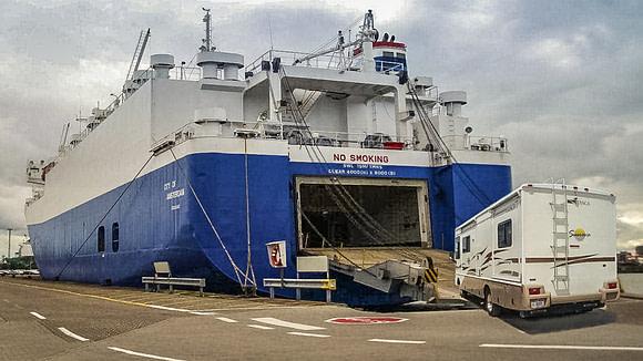 RoRo Shipping of Motorhomes,Motorhomes